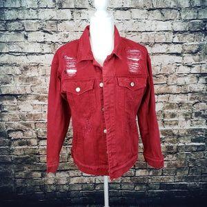 Forever 21 Red Denim Jacket
